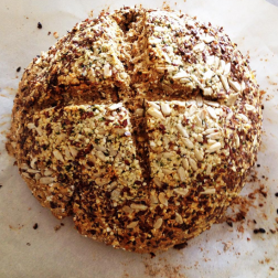 Soda bread with seeds