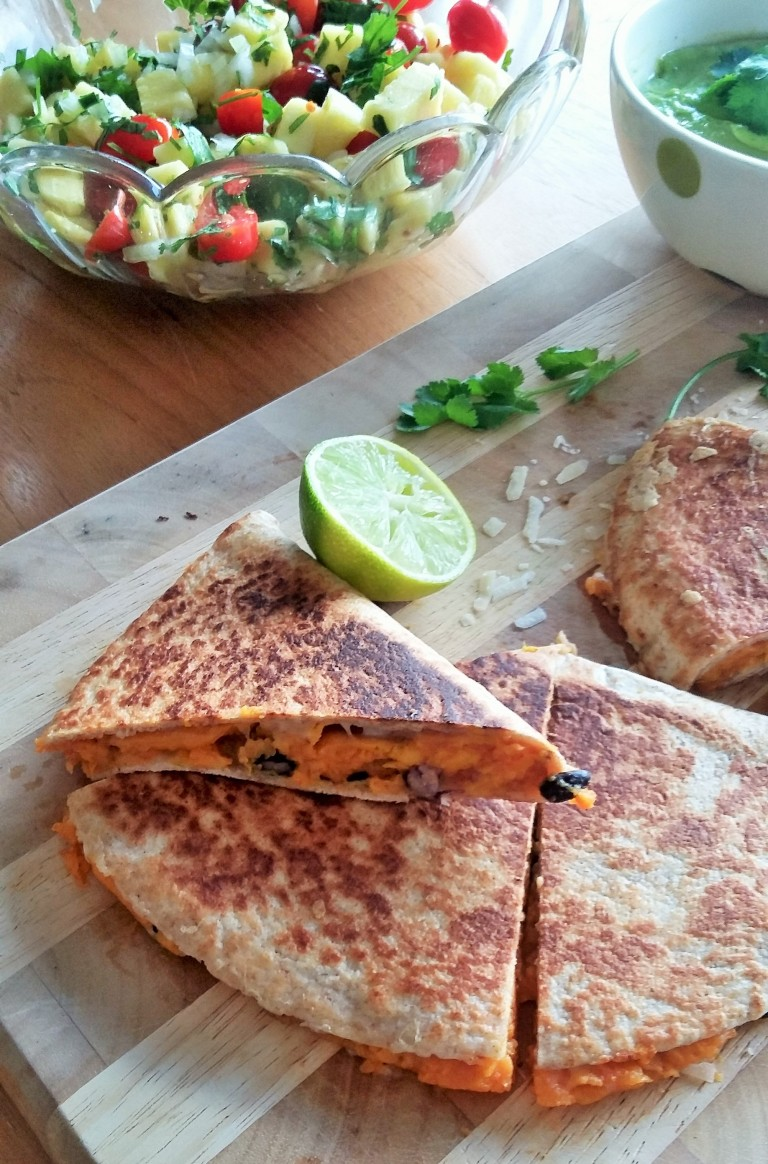 sweet potato quesadilla black bean
