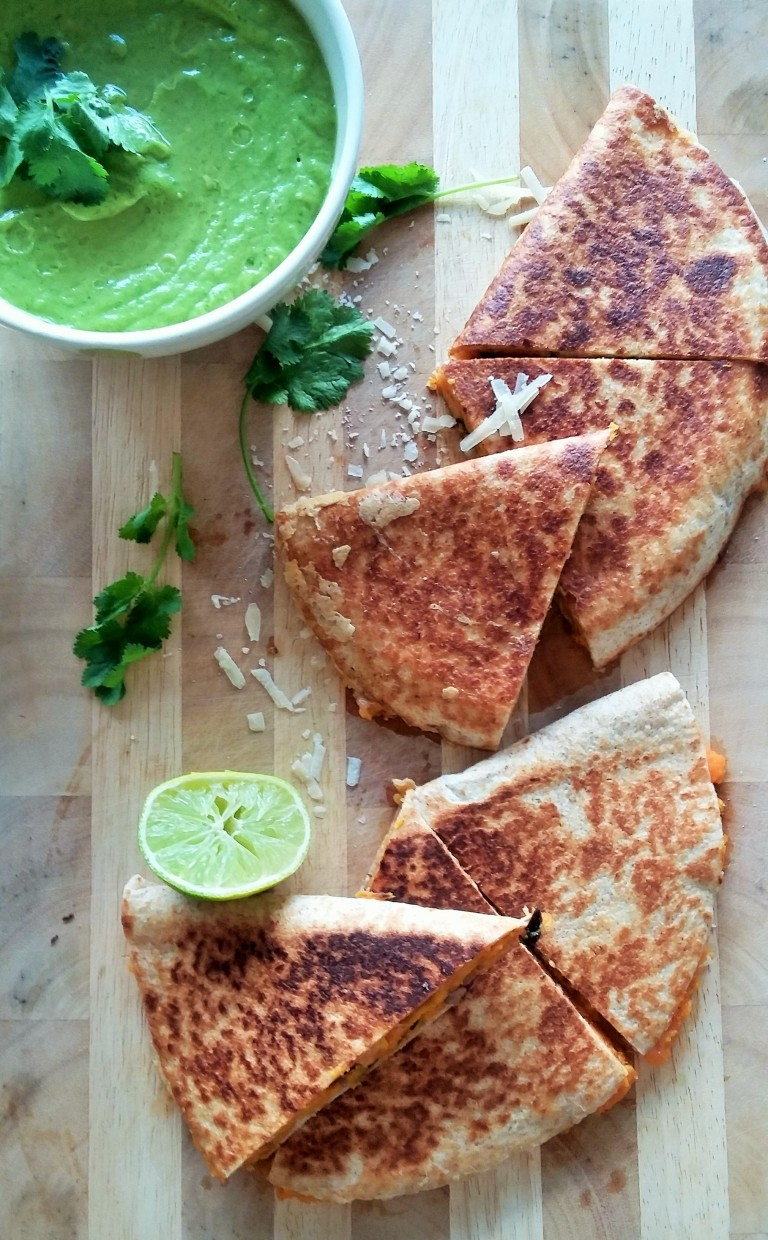 sweet potato quesadilla black beans
